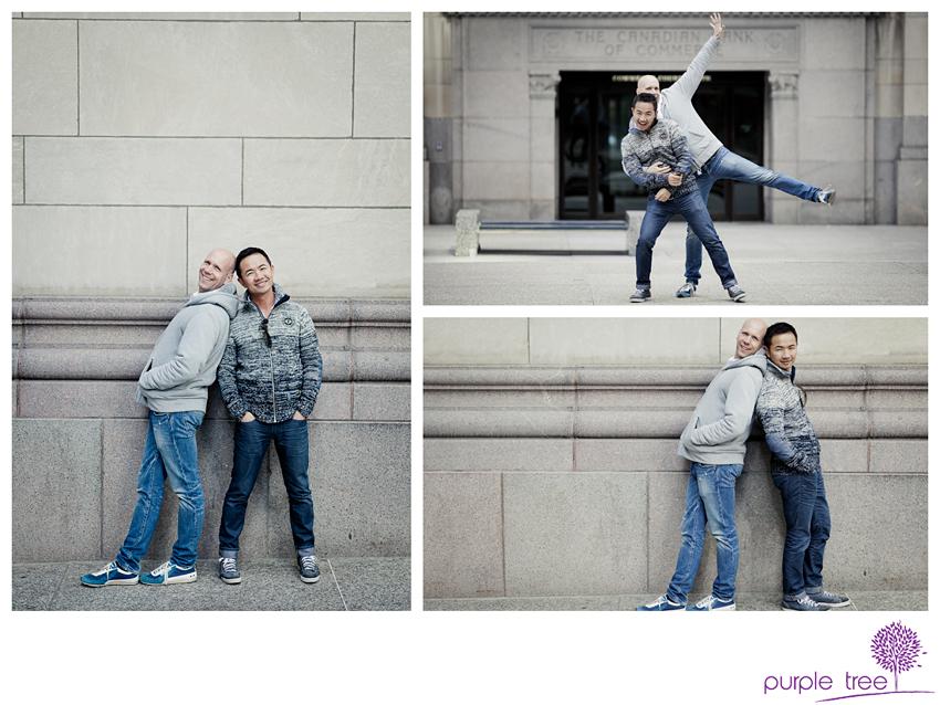 Antonio And Scott Gay Engagement Session Purple Tree