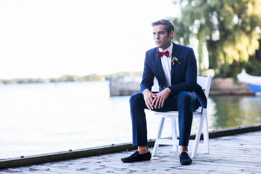Groom Suit Bow Tie Suit Bow Blue Suit Bow Tie
