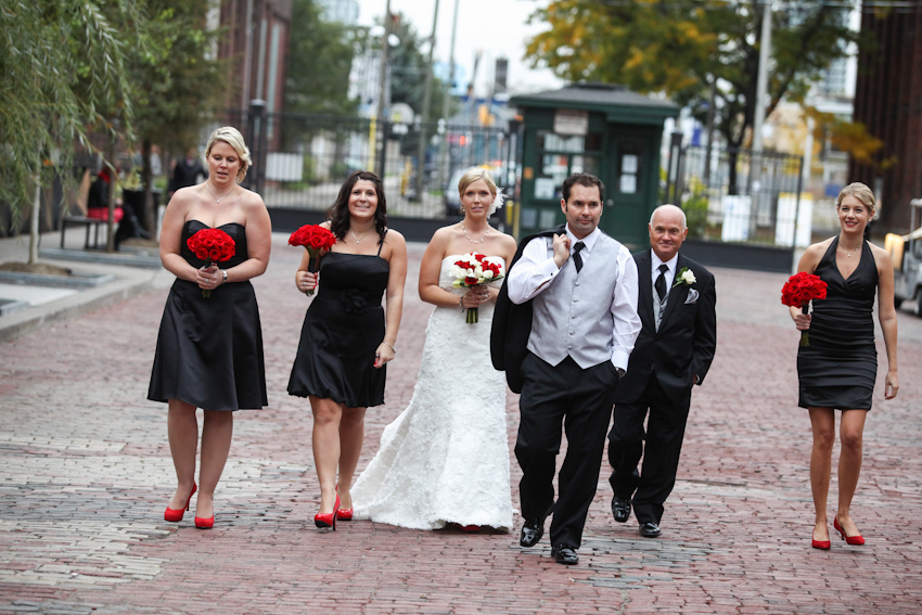 Distillery district, Toronto, Wedding