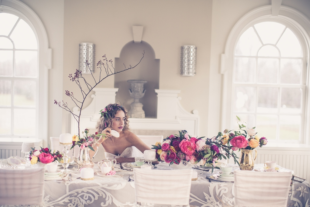 bride at the head table