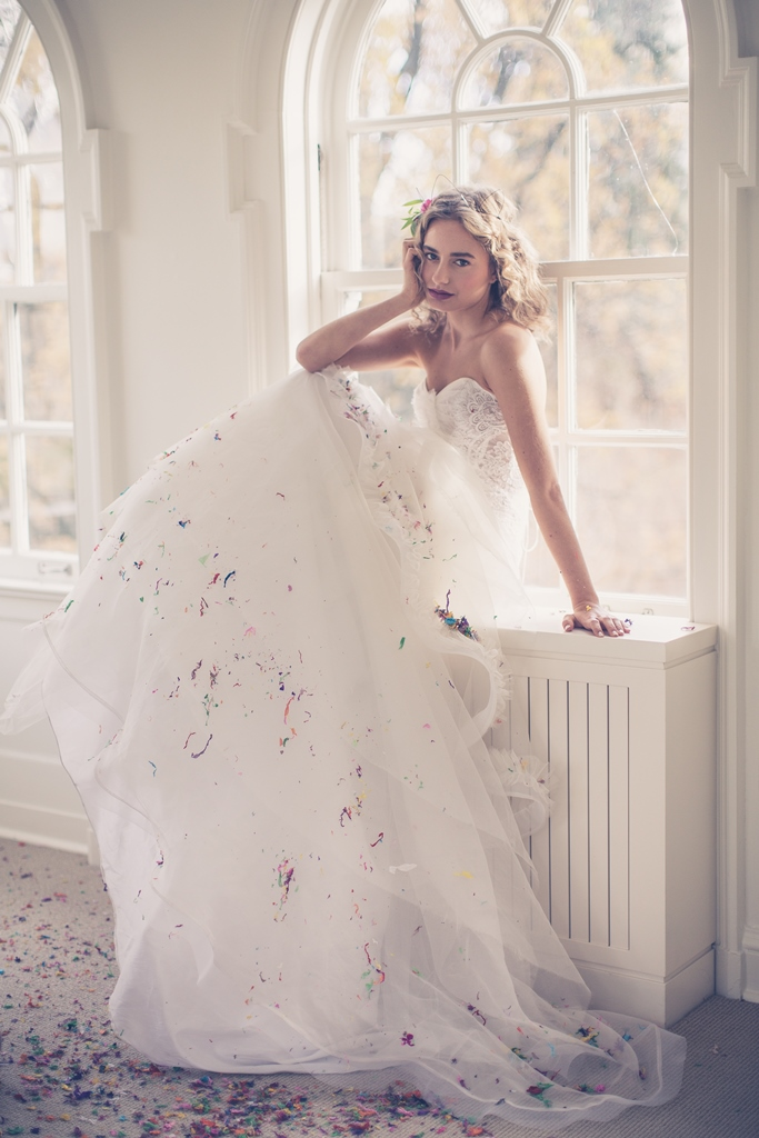 bride on the window ledge