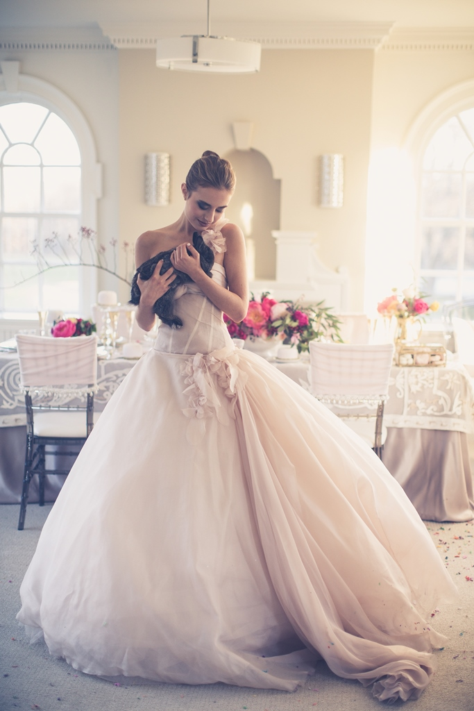 creative bridal shoot