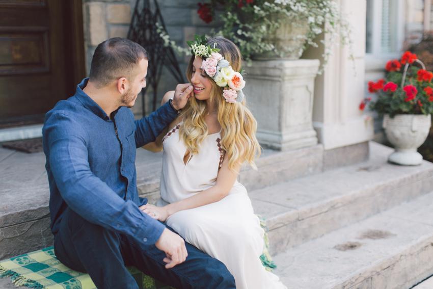 floral crown engagement