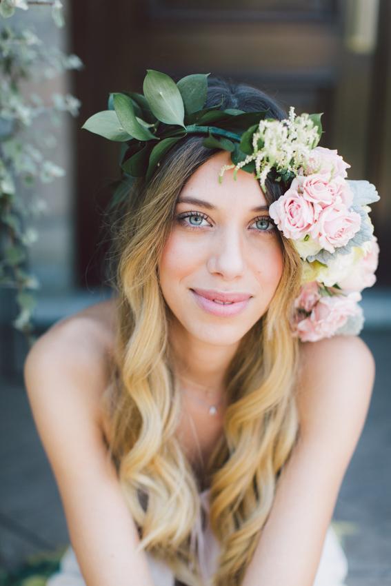 floral crown headpiece