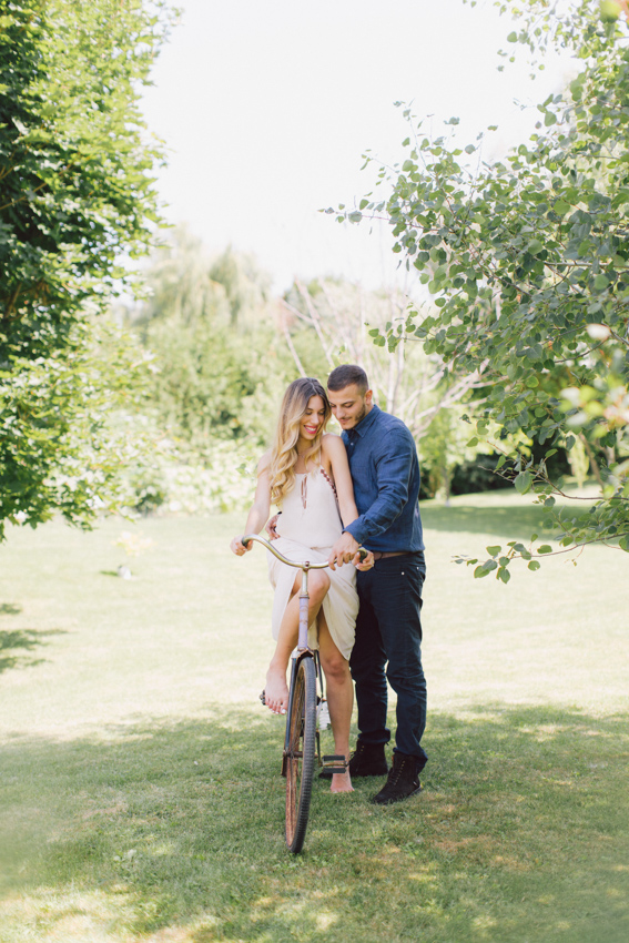 bicycle themed engagement
