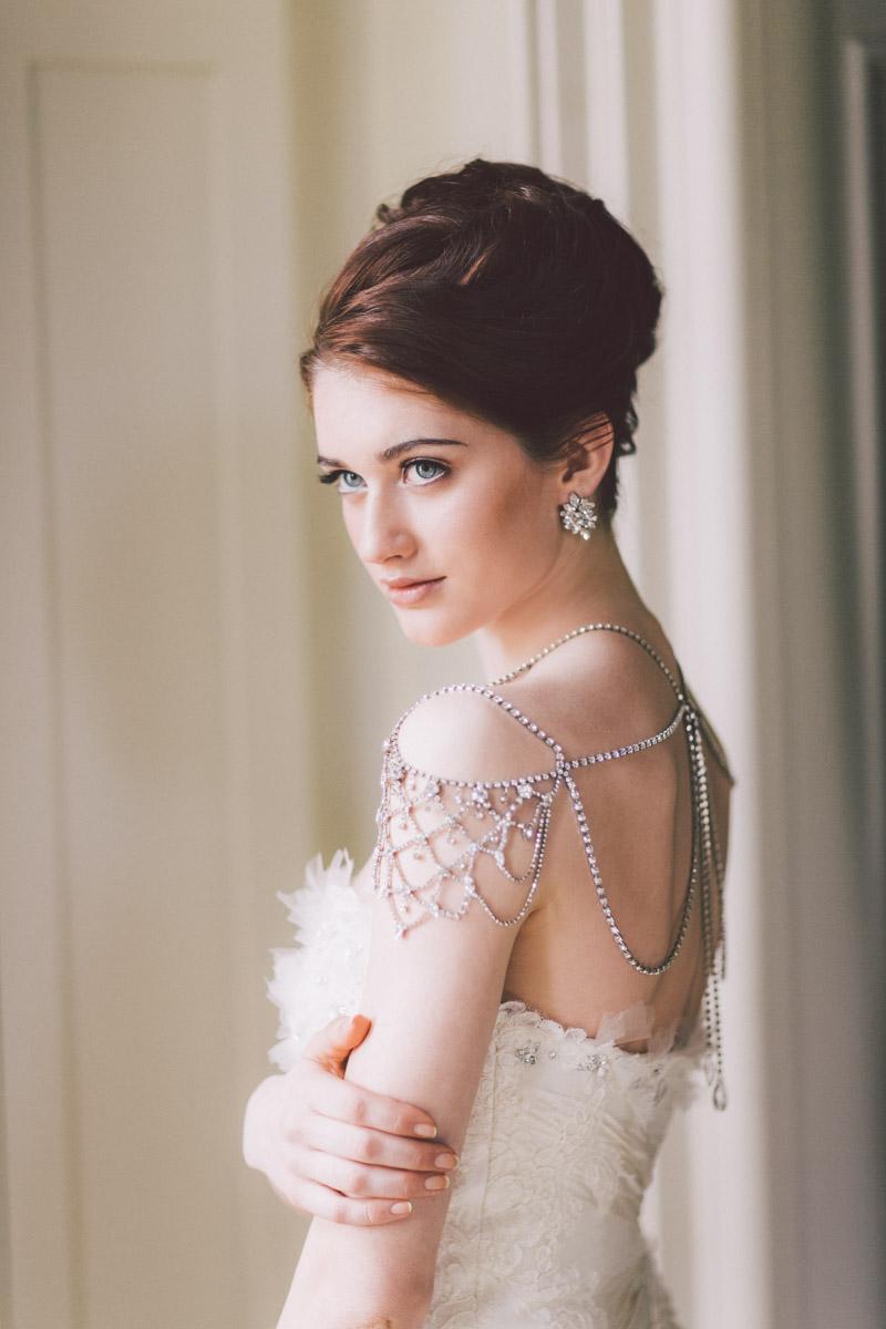 model posing as a bride