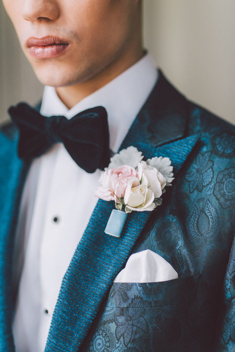 groom bow tie closeup