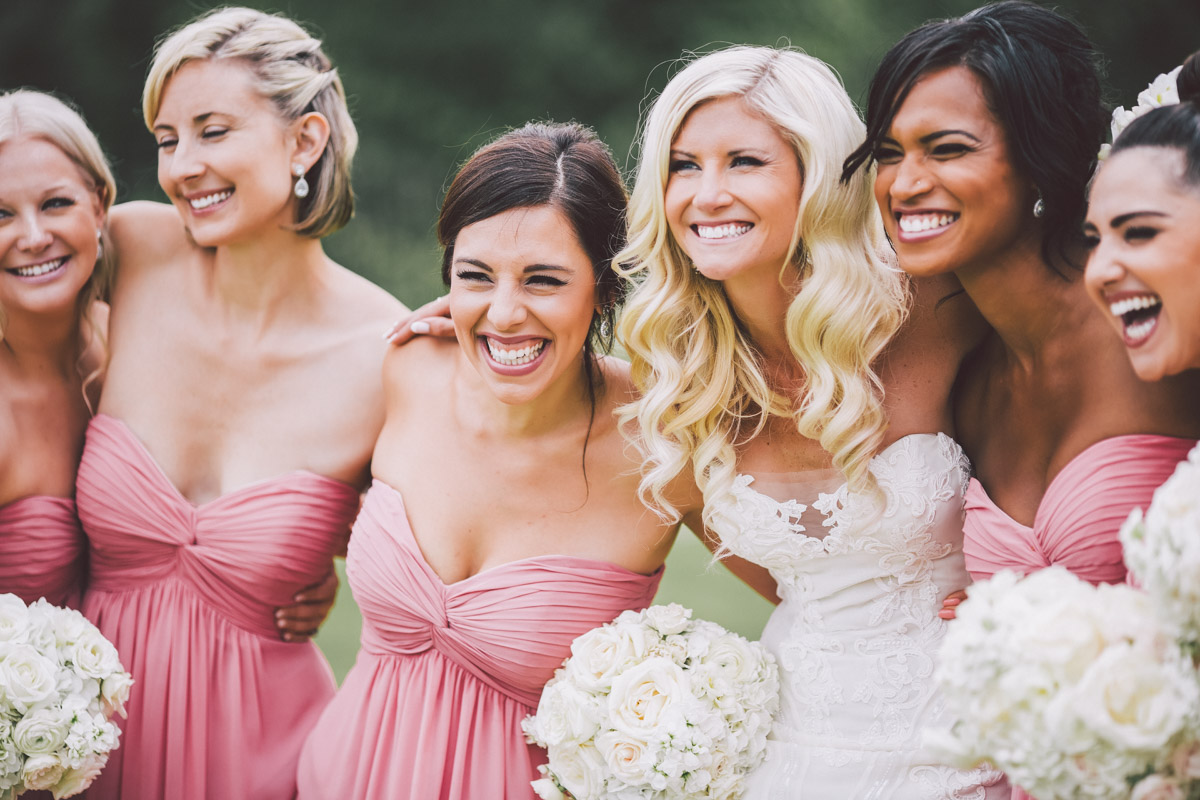 fun bridal party shoots with girls