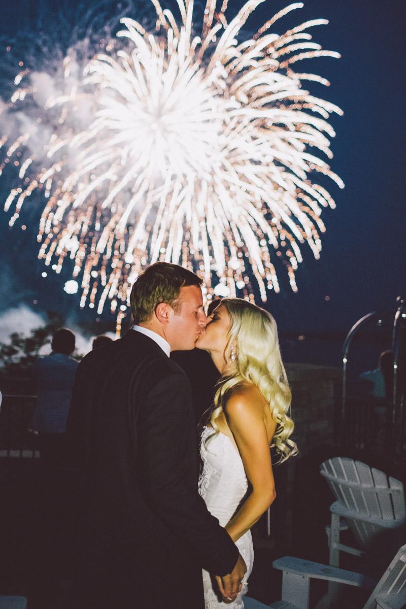 Muskoka fireworks wedding