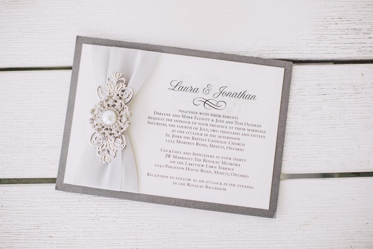 invitation to muskoka wedding