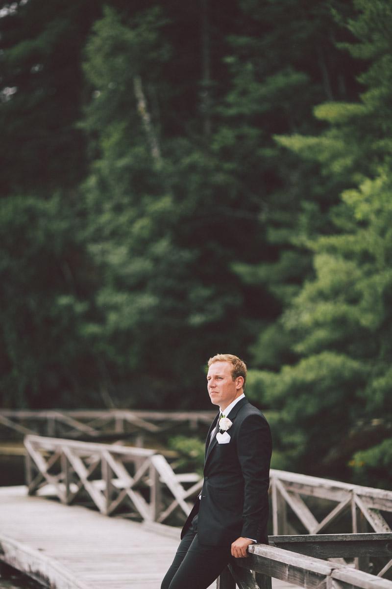 wedding at Lake Rousseau