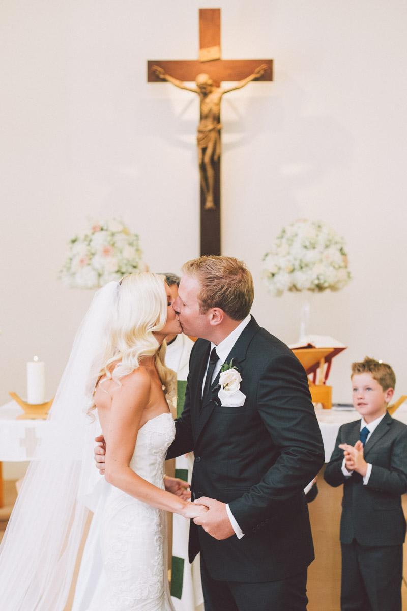 First kiss in the church