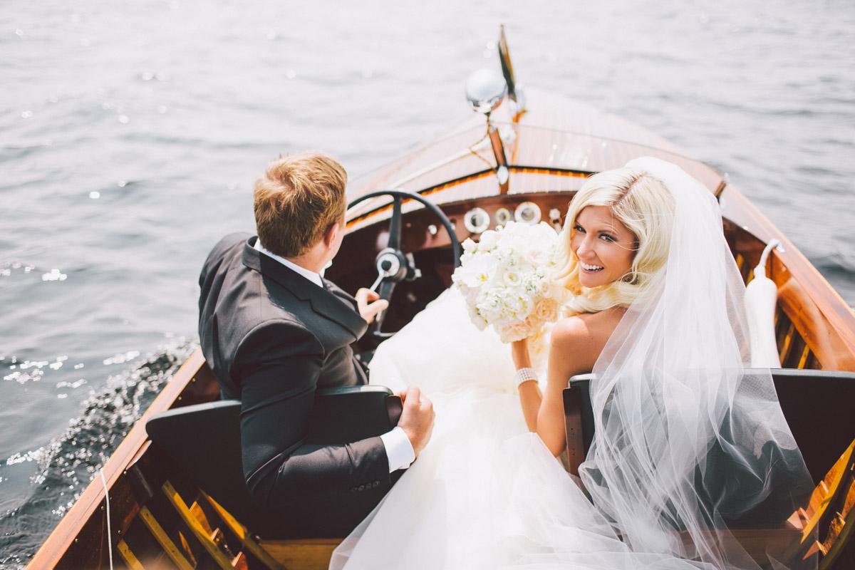 newlywed boat ride