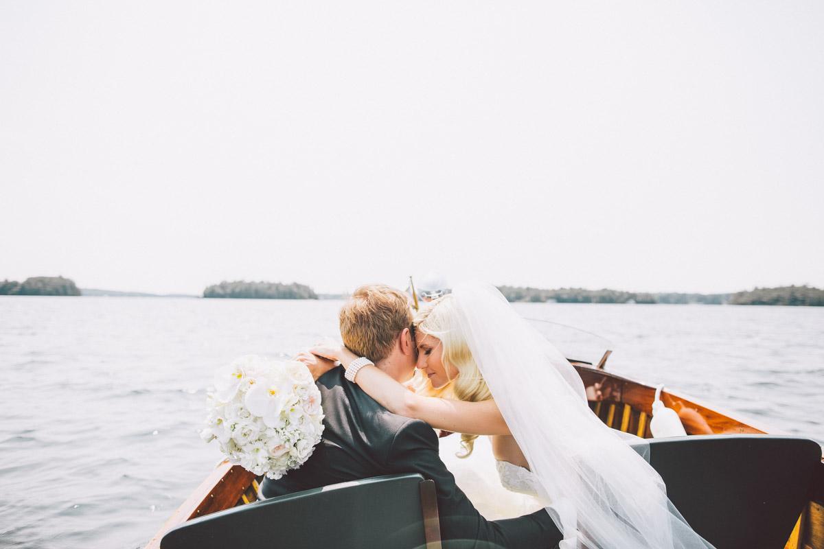 outdoor wedding on the lake