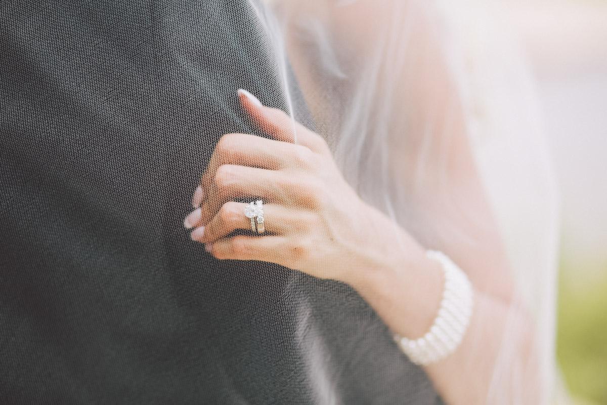 candid wedding ring shot