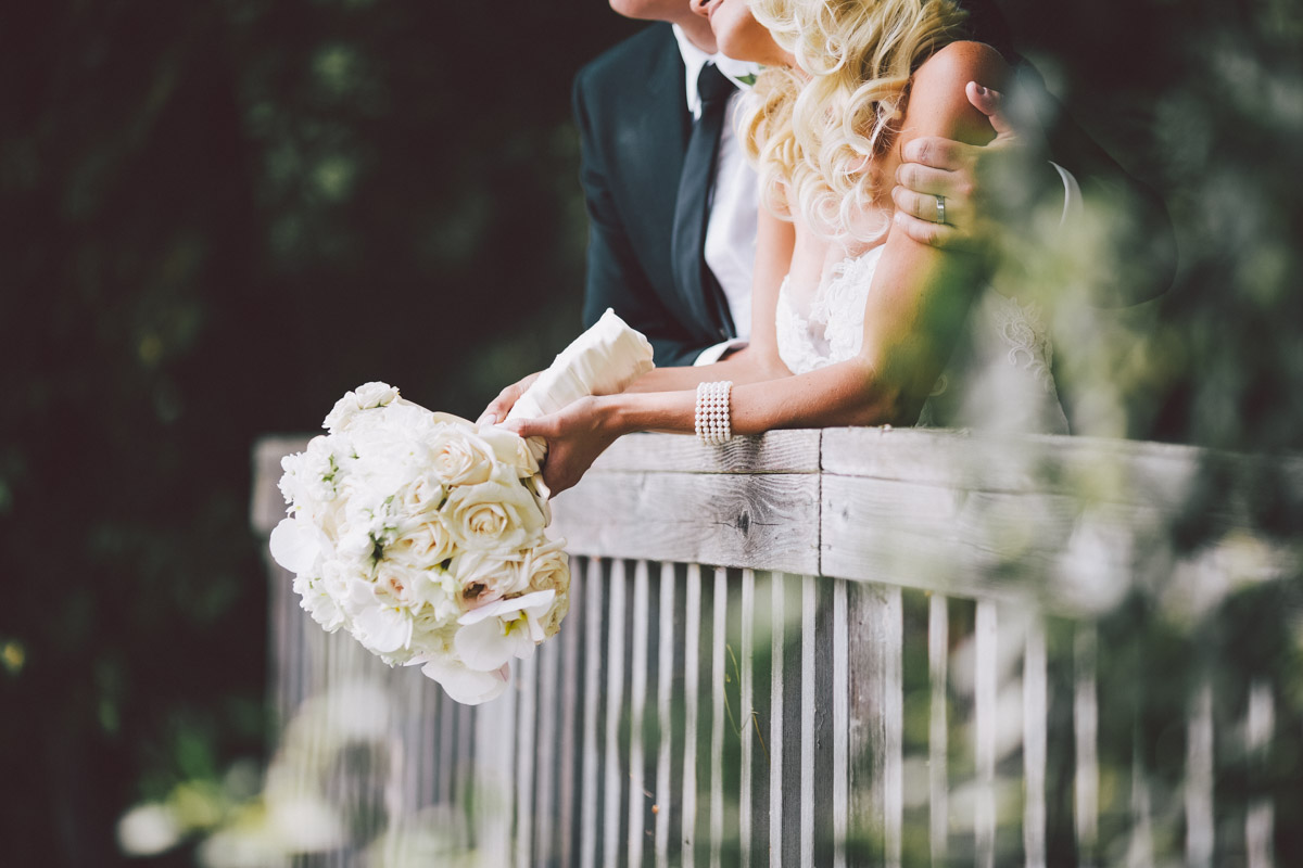 flowers in brides hands
