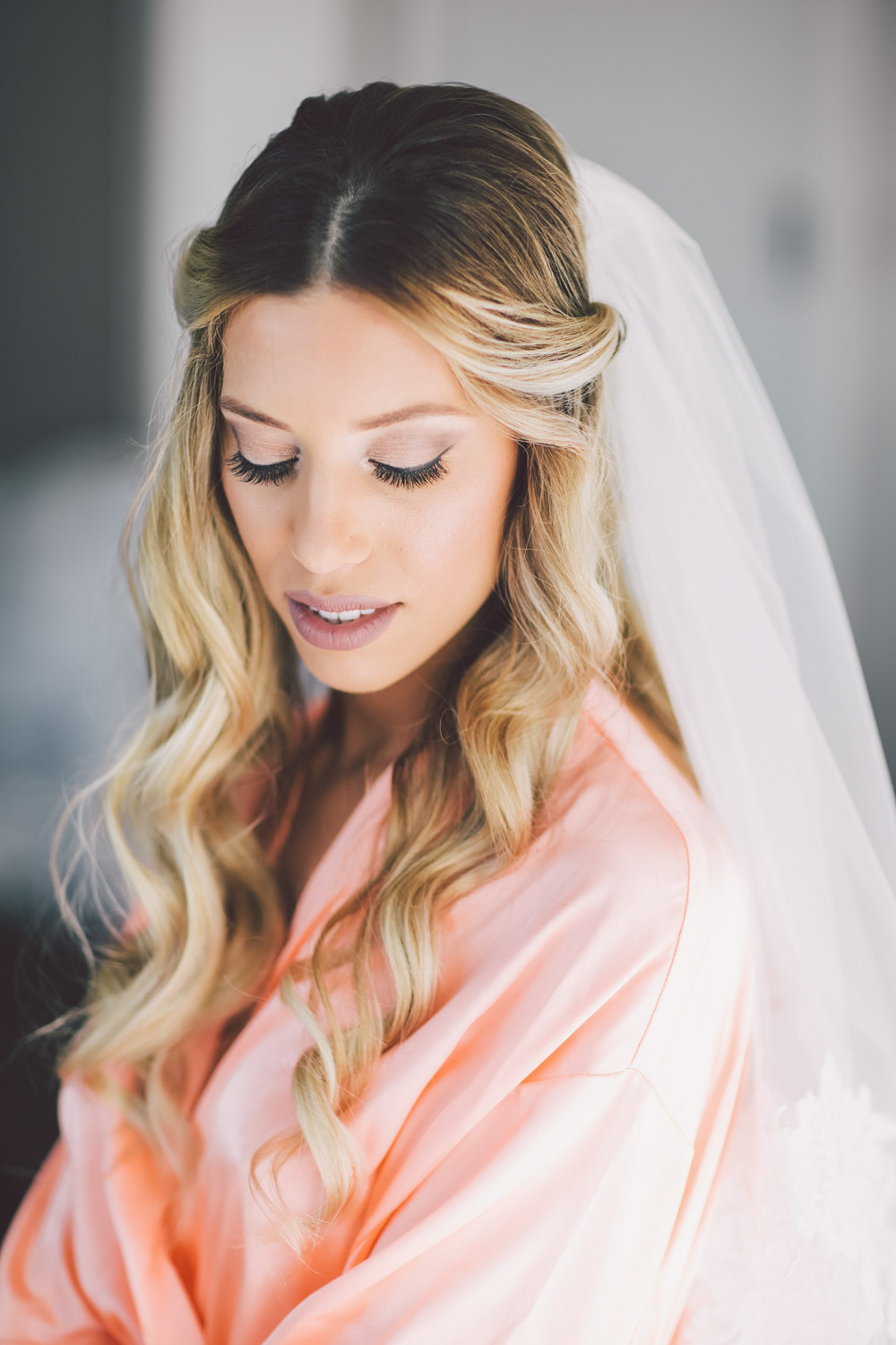 bride worked as a hairstylist