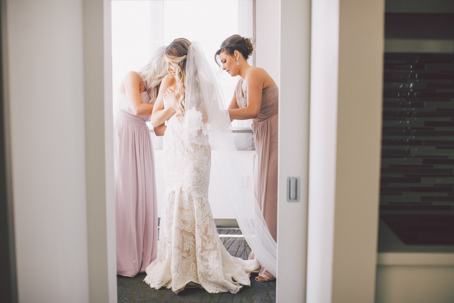 stunning lacy bridal gown