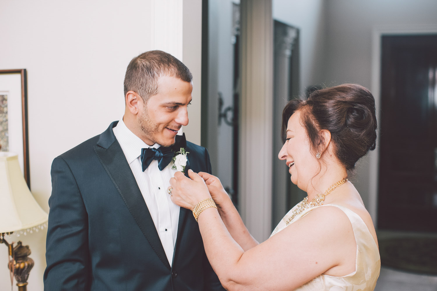 pinning on the boutonnier