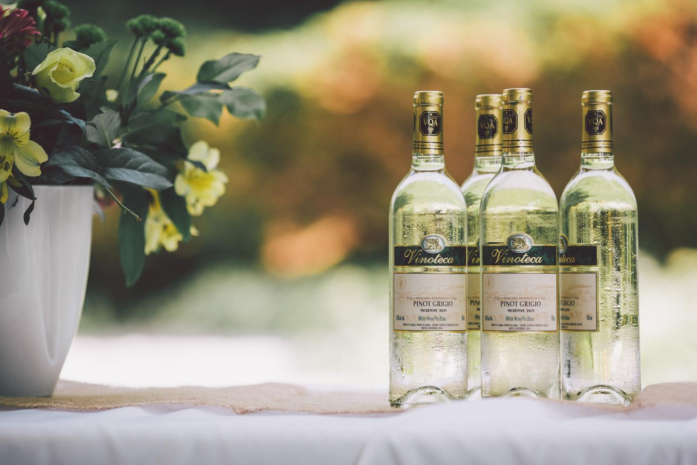 wedding snacks and wine
