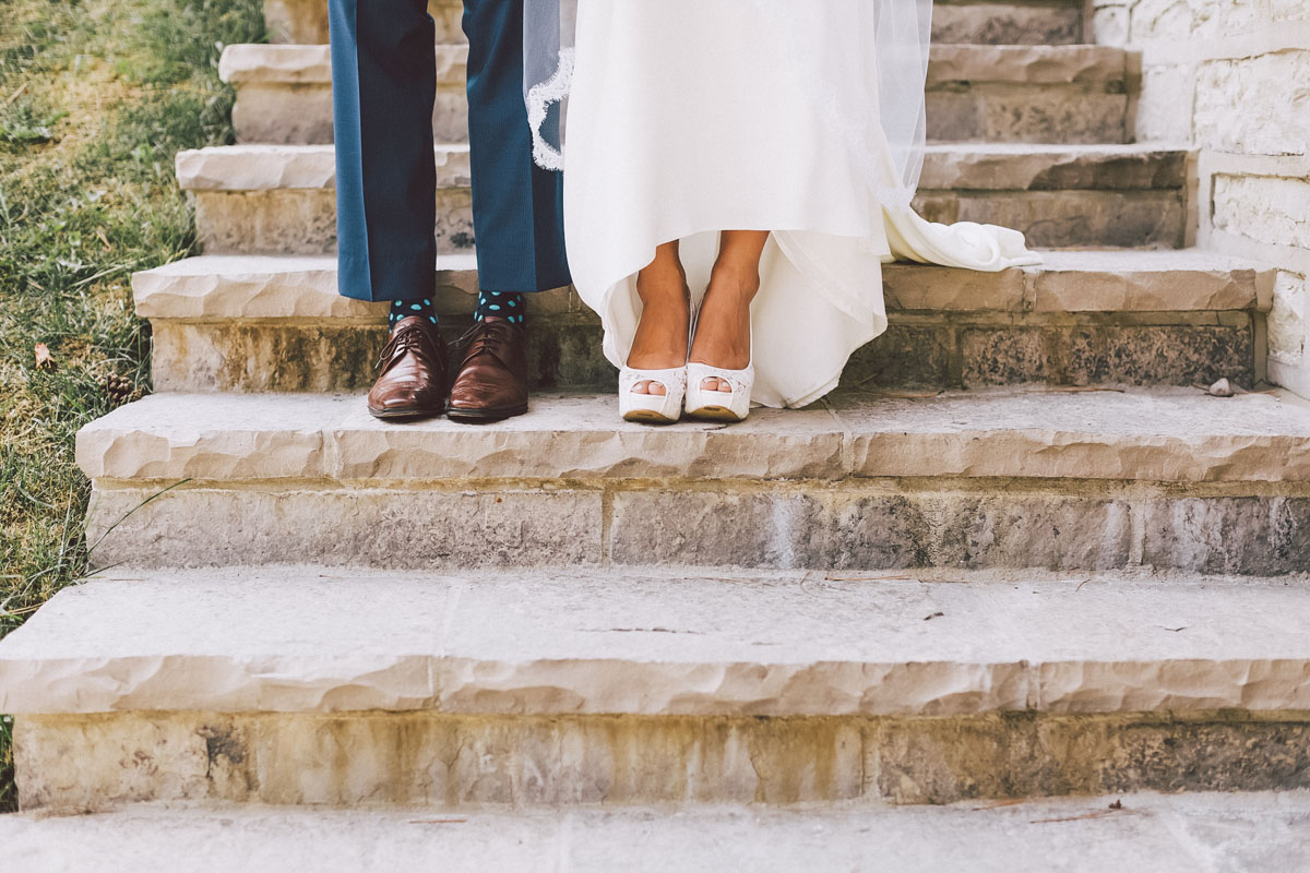 wedding shoe shot