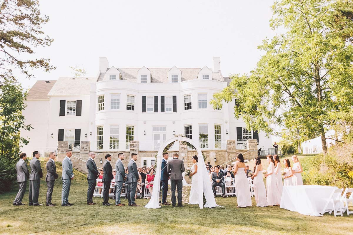 holcim waterfront estate wedding ceremony