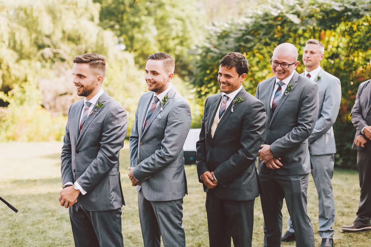 groomsmen at the ceremony