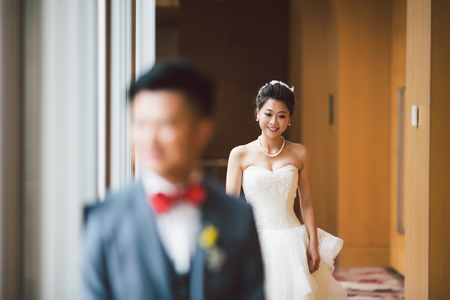 first look chinese wedding