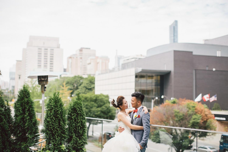 downtown toronto wedding backdrop