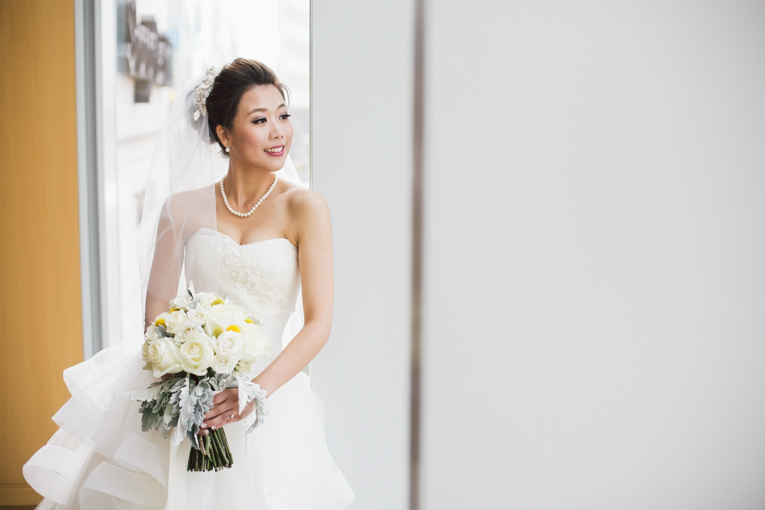 bride posing before the ceremony