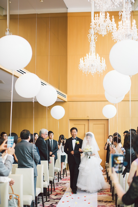 bride walking down the aisle Shangri la