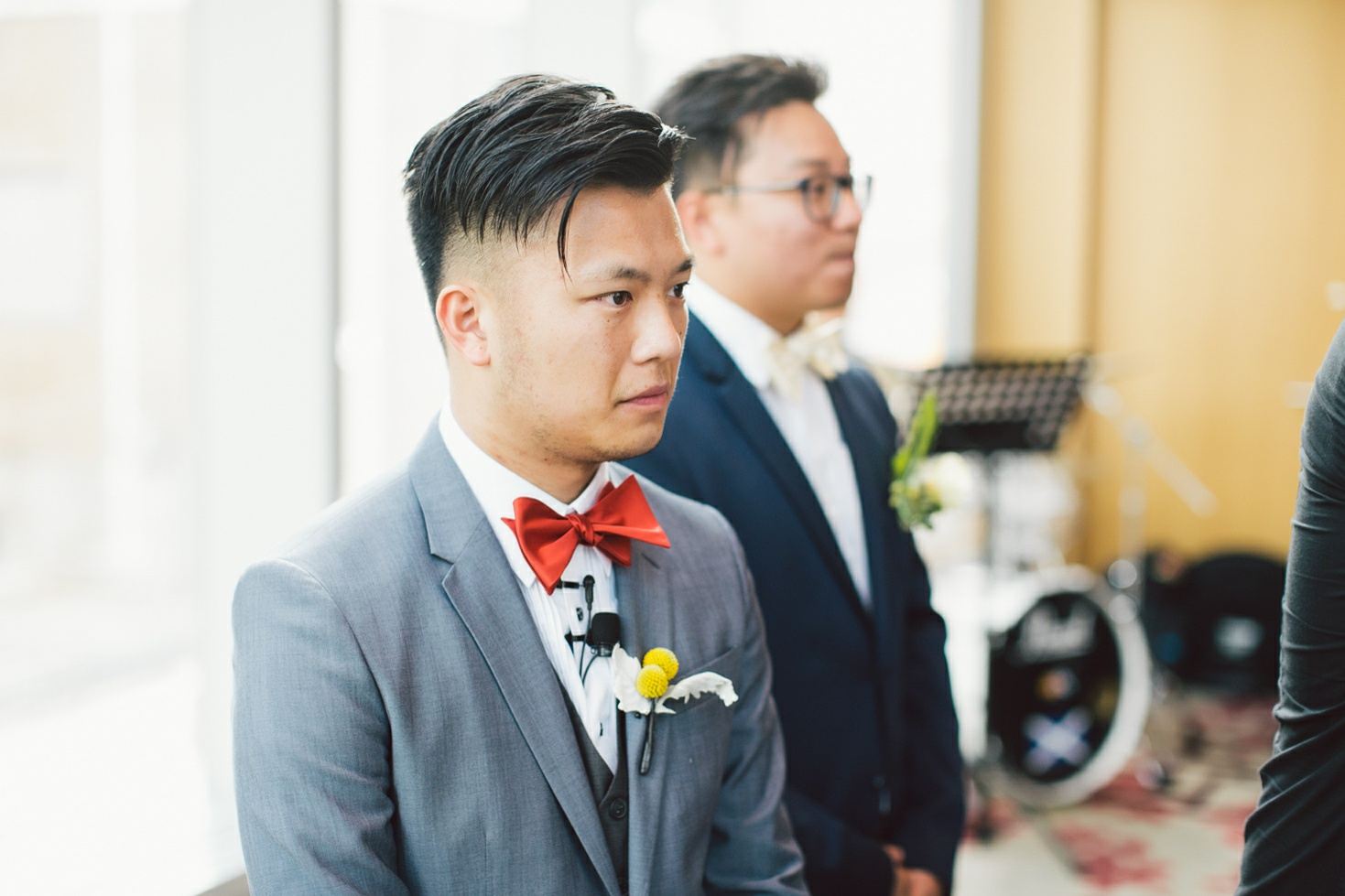 groom anticipating the bride