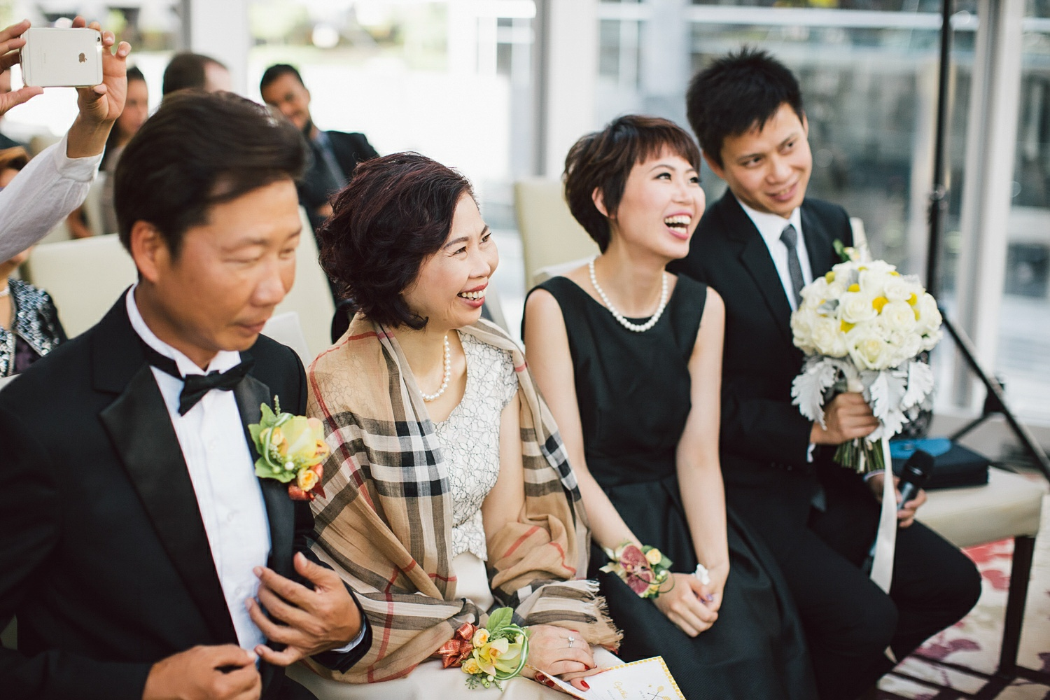 chinese wedding guest smiles