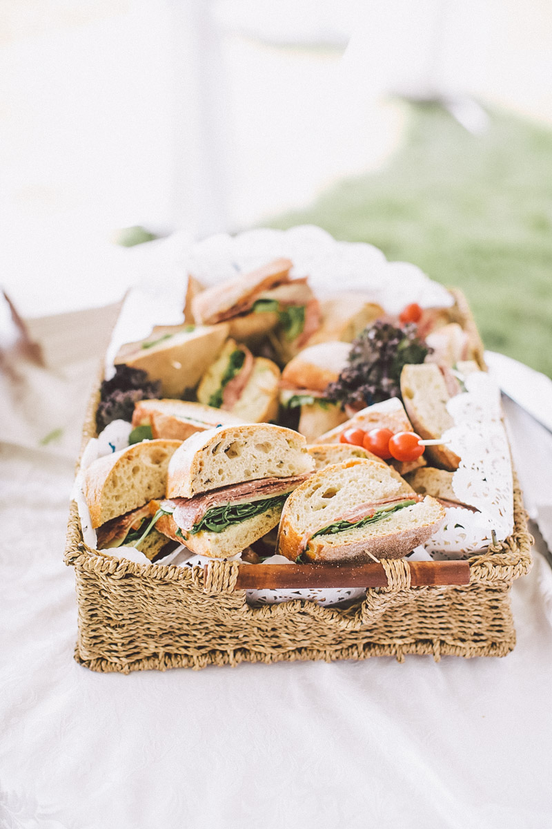 wedding day food snacks
