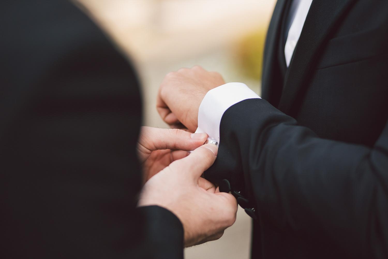 grooms wedding preparations