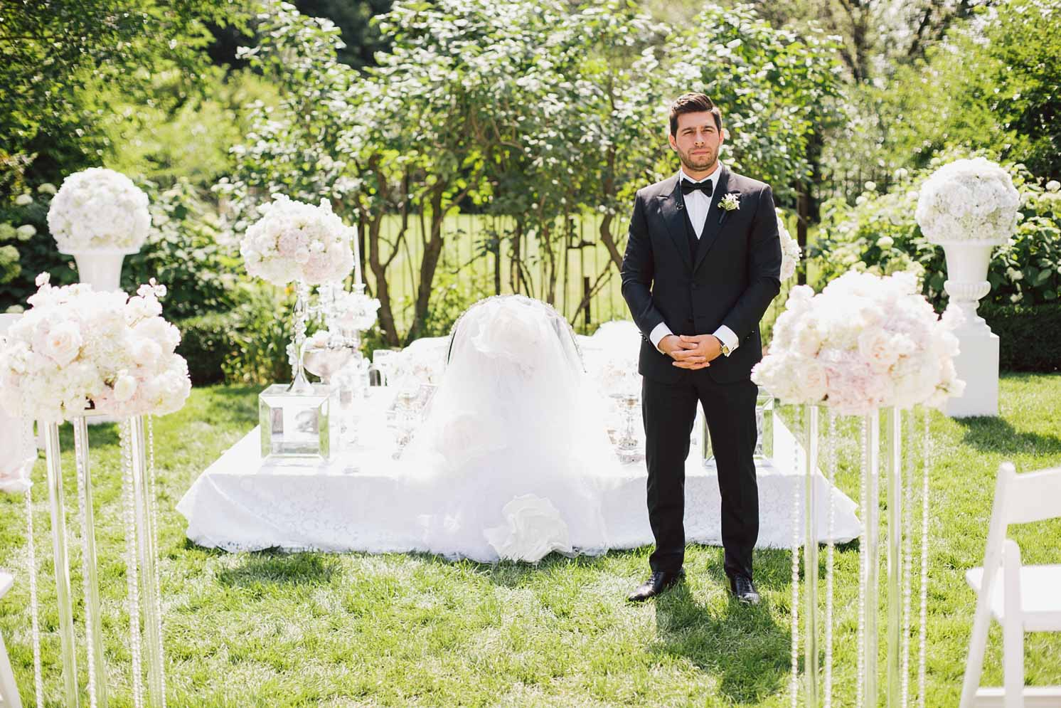 wedding ceremony at graydon hall