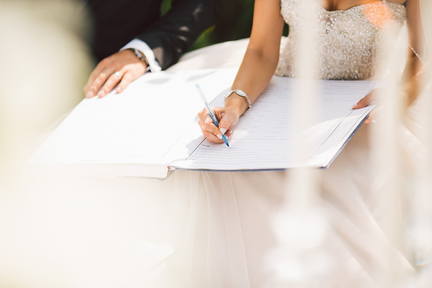 wedding certificate signing idea
