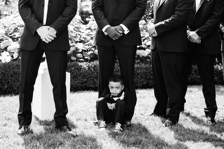 groomsmen cute kid