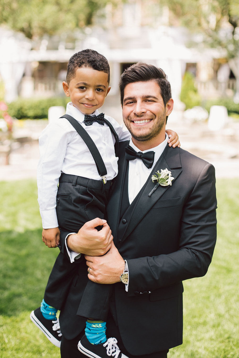 groom with the kid