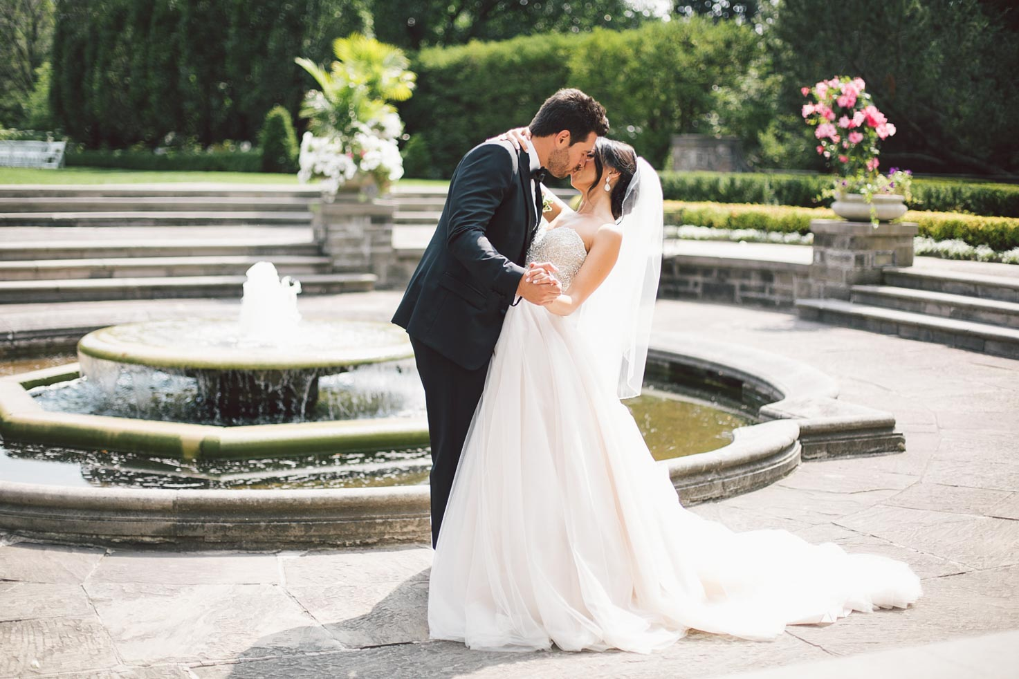 bride and groom slow dance at graydon hall manor