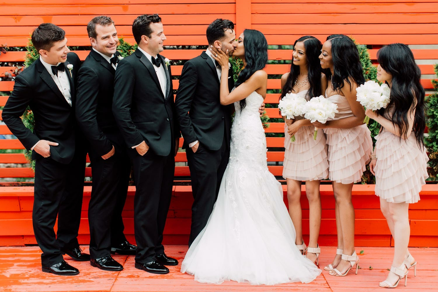 bridal party at berkeley field house