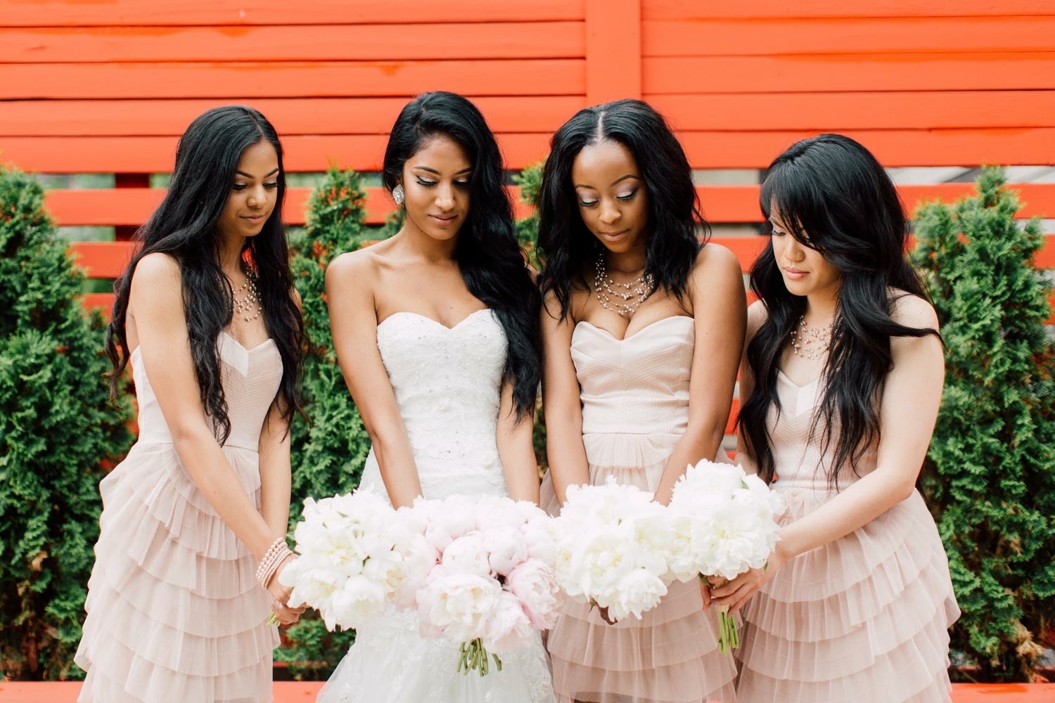 bridal party at berkeley fields