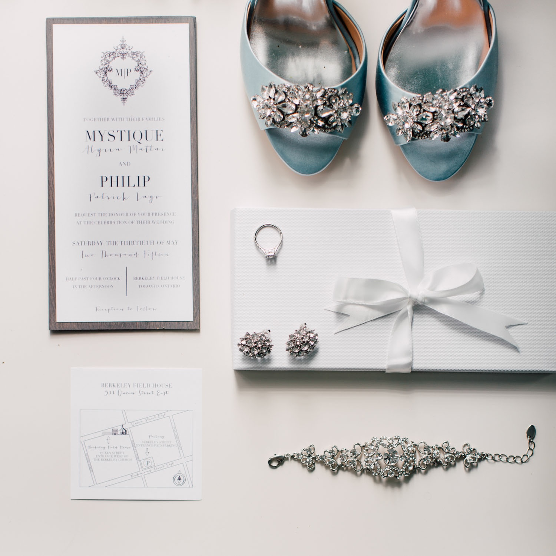 detail shot of bride's accessories