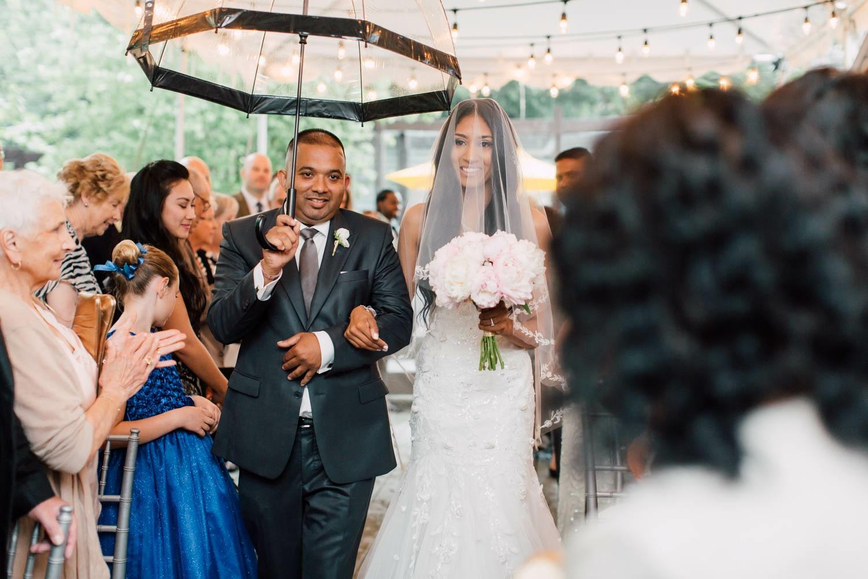 rain on the wedding ceremony