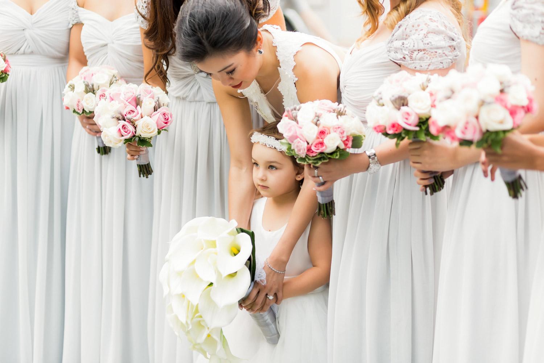 bridesmaids in Reem Acra