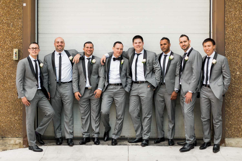 groomsmen posing yorkville