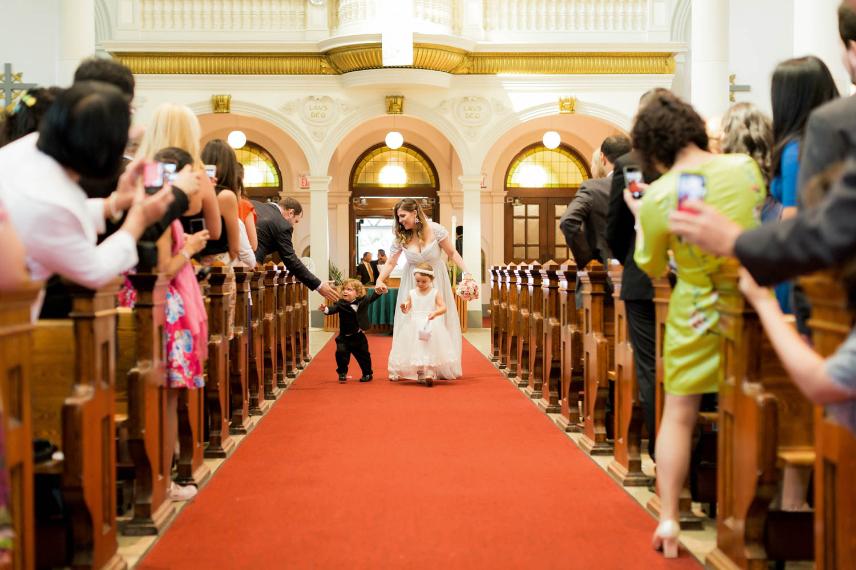 wedding ceremony at St. Anne's Parish