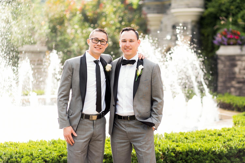 grooms men posing