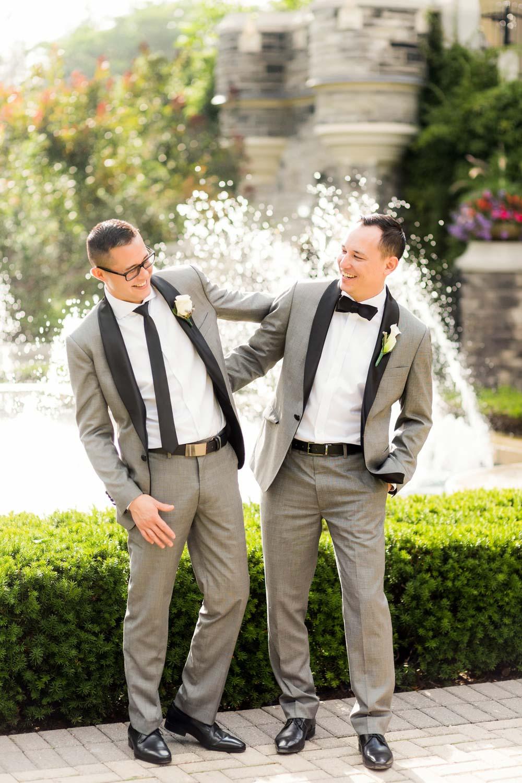 candid groomsmen shot