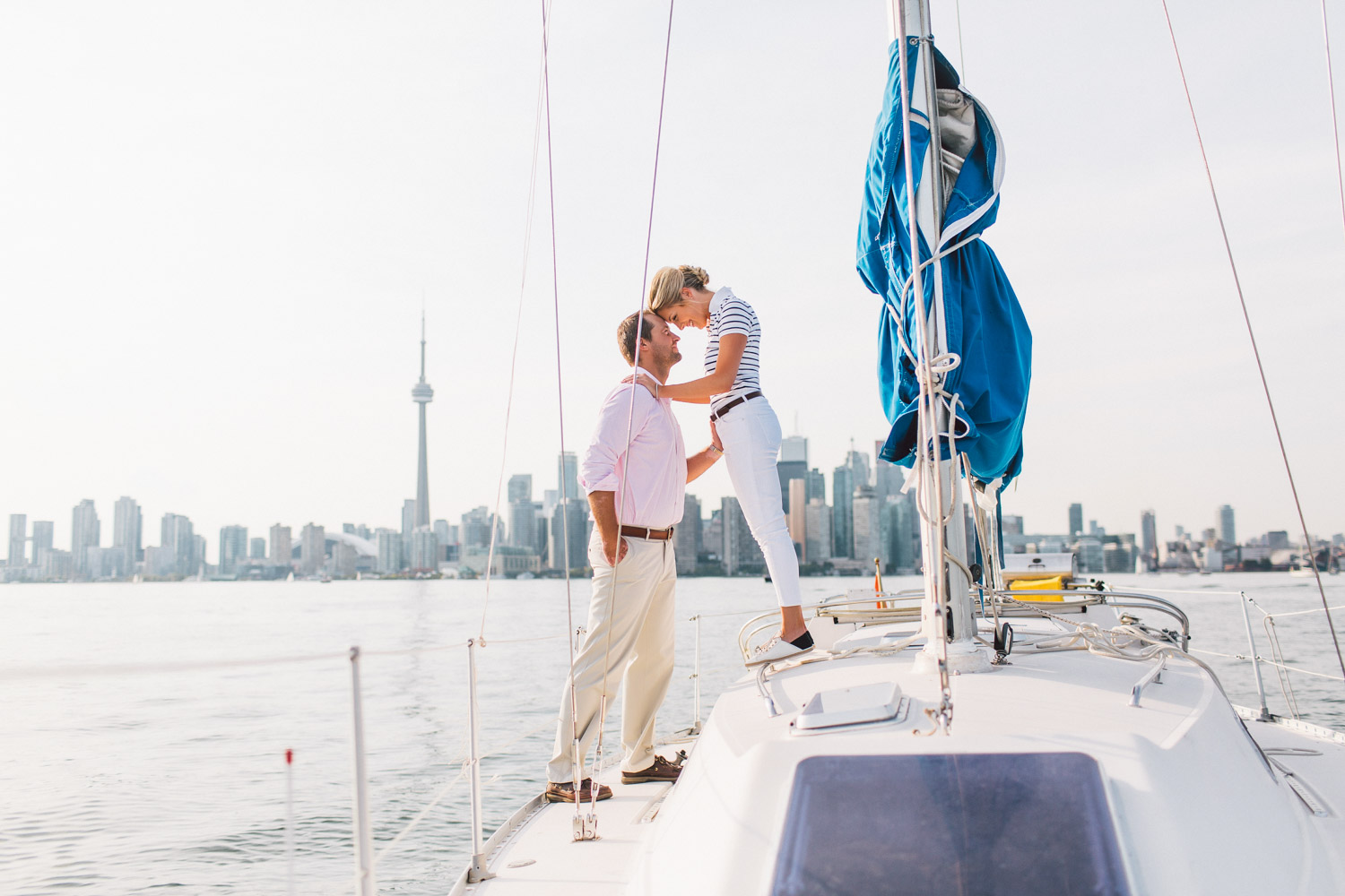 Engagement Photography on a Sail Boat